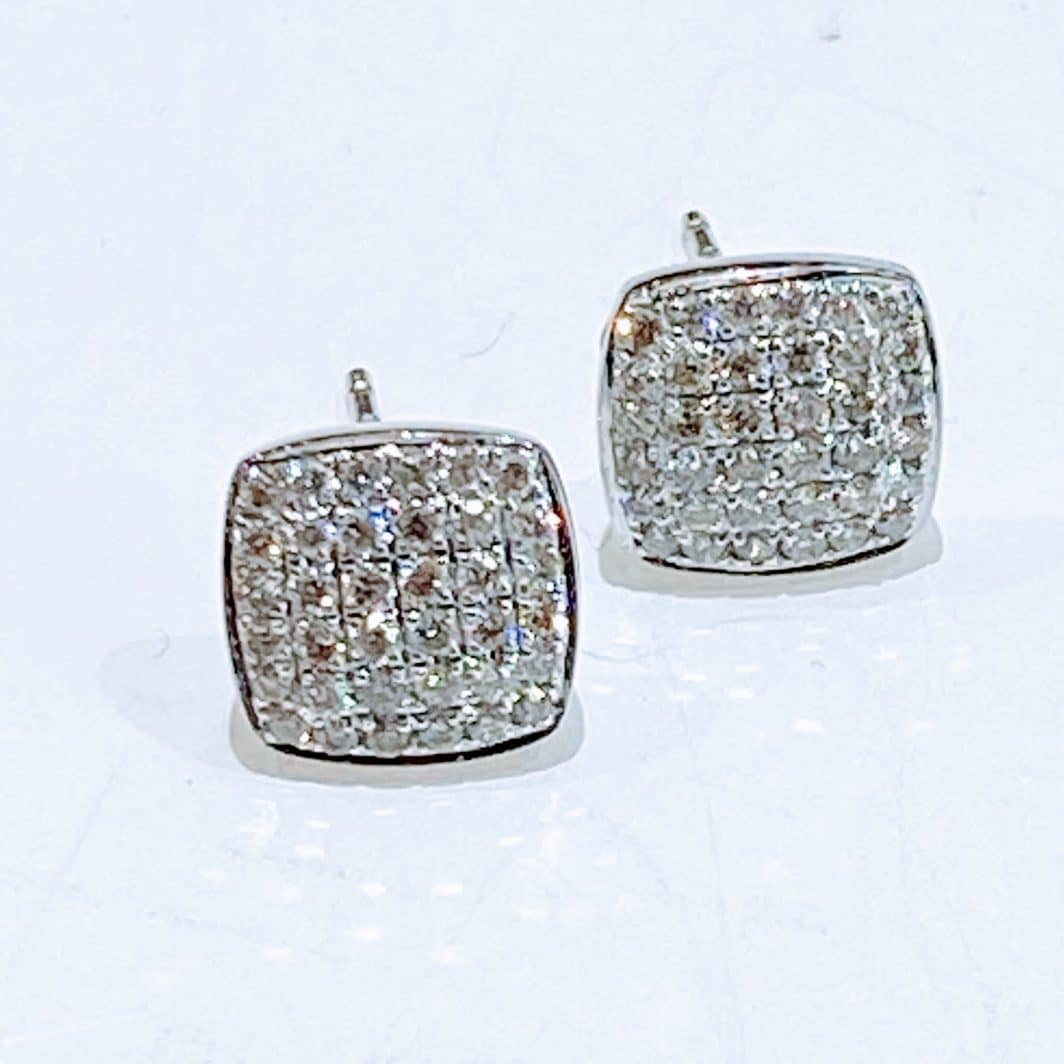 Diamond Square Earrings