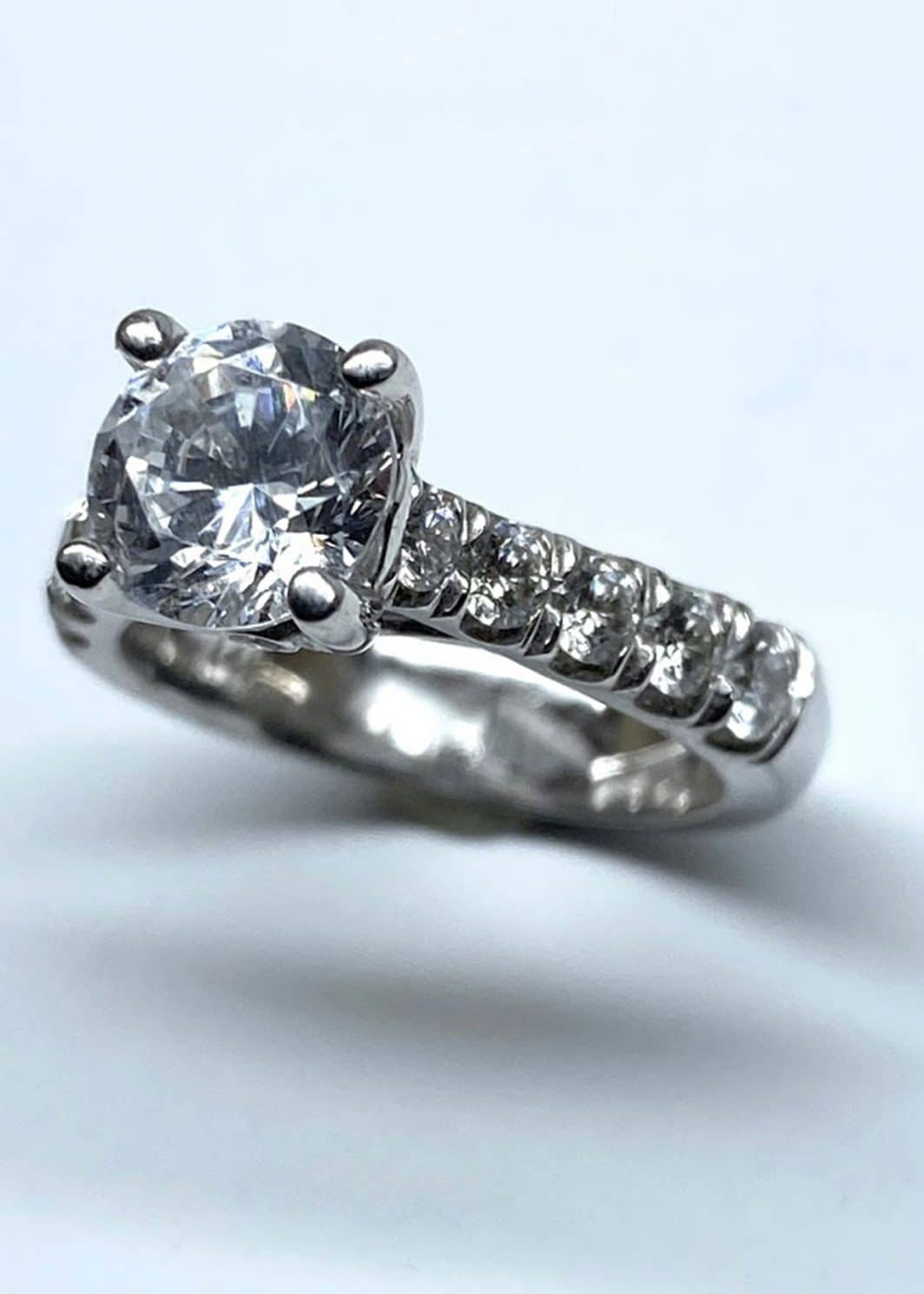 Engagement Ring 14K White Gold