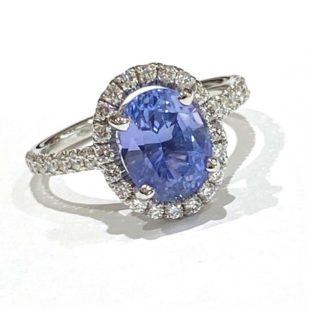 Ladys Diamond and Sapphire Ring