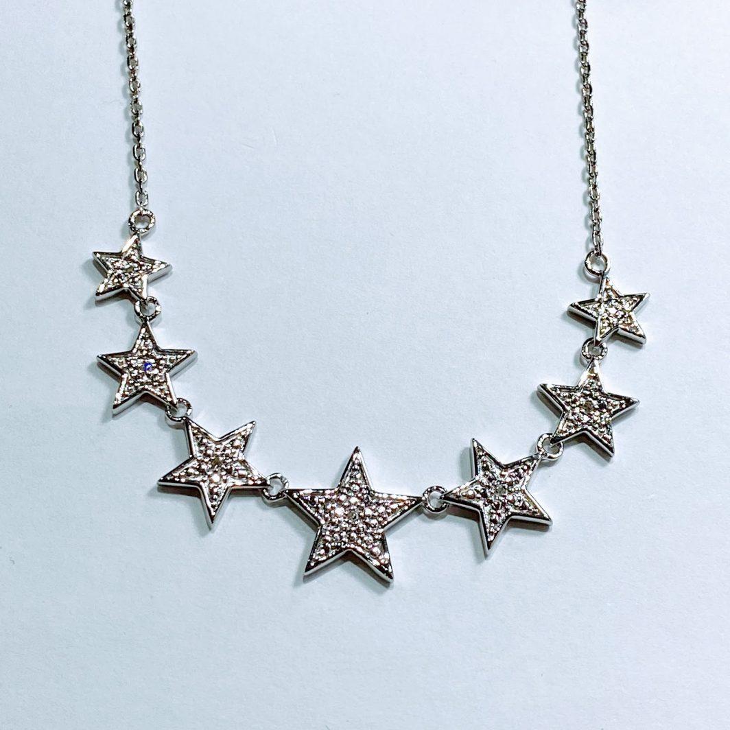 Sterling Silver Diamond Stars