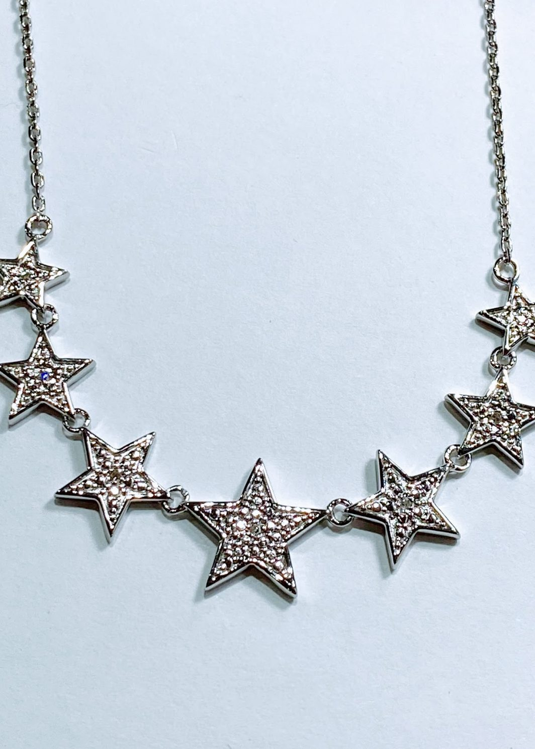 Sterling Silver Diamond Stars