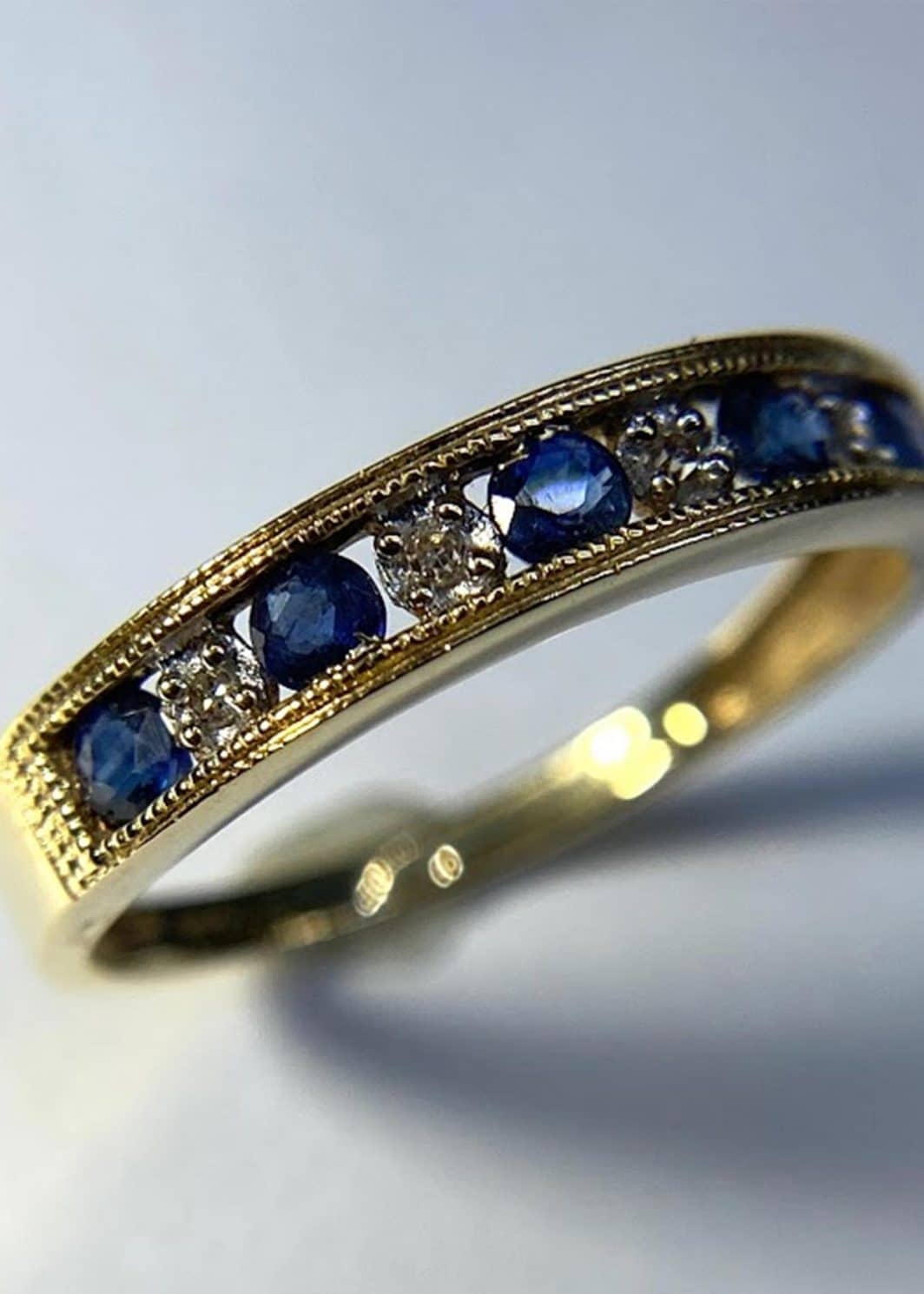 Diamond and Sapphire Ring-207-298
