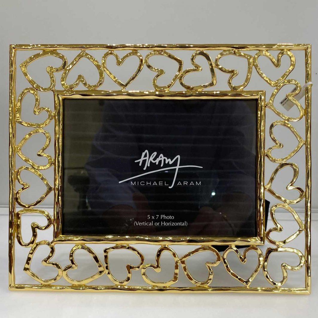 Michael Aram Gold Heart 5X7 Picture frame