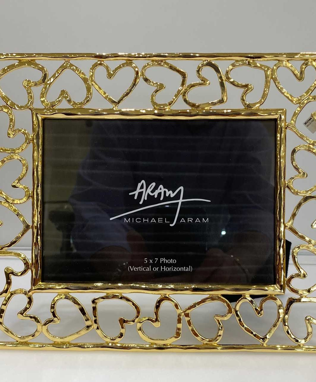 Michael Aram Gold Heart 5X7 Picture frame