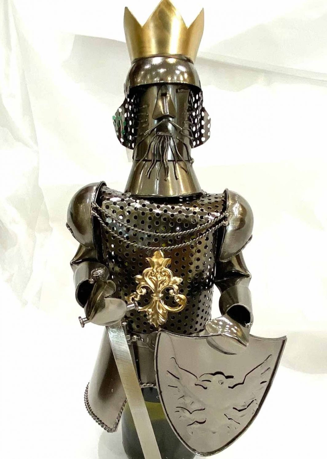 KING Metal Wine Caddy