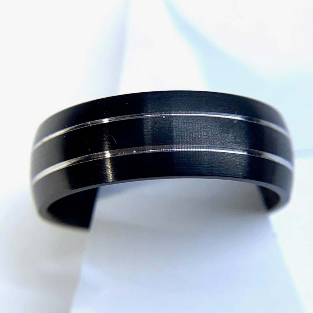 Gents Black Cobalt Ring